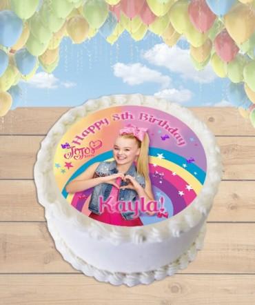 Jojo Siwa Bows Edible Frosting Image Cake Topper [ROUND]