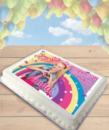 Jojo Siwa Bows Edible Frosting Image Cake Topper [SHEET]
