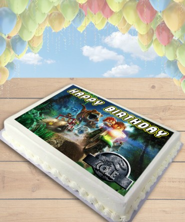 Lego Jurassic World Edible Frosting Image Cake Topper [SHEET]