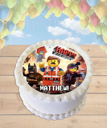The Lego Movie Edible Frosting Image Cake Topper [ROUND]