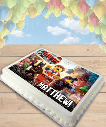 The Lego Movie Edible Frosting Image Cake Topper [SHEET]