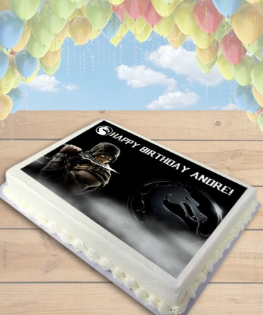 Mortal Kombat X CHOOSE PLAYER Edible Frosting Image Cake Topper [SHEET]