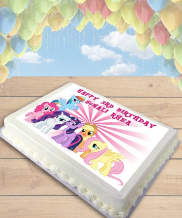 My Little Pony Friends Edible Frosting Image Cake Topper [SHEET]