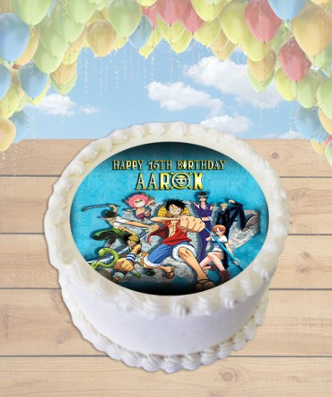 One Piece Anime Edible Frosting Image Cake Topper [ROUND]