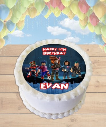 Roblox Video Game Edible Frosting Image Cake Topper [ROUND]