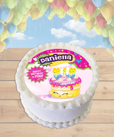 Shopkins Wishes Edible Frosting Image Cake Topper [ROUND]