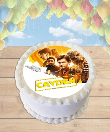 STAR WARS Solo Edible Frosting Image Cake Topper [ROUND]