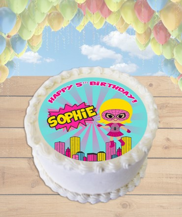 Spidergirl Clipart Edible Frosting Image Cake Topper [ROUND]