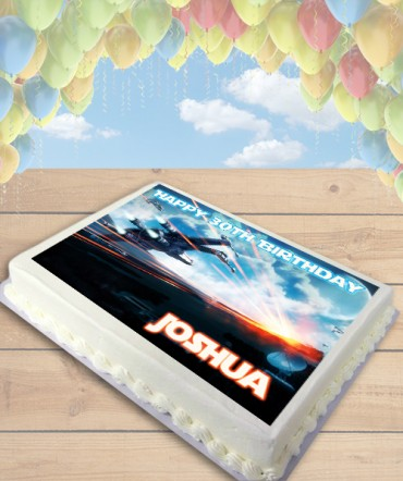Star Wars The Force Awakens X-Wing Edible Frosting Image Cake Topper [SHEET]