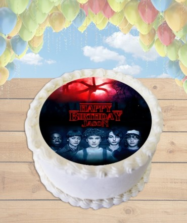 Stranger Things 2 Edible Frosting Image Cake Topper [ROUND]