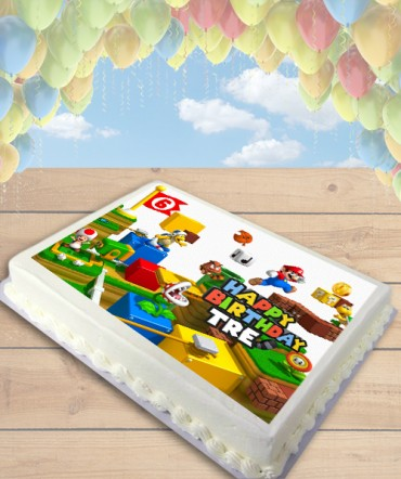 Super Mario 3D Land Mario Edible Frosting Image Cake Topper [SHEET]
