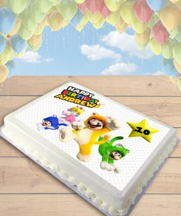 Super Mario 3D World Edible Frosting Image Cake Topper [SHEET]