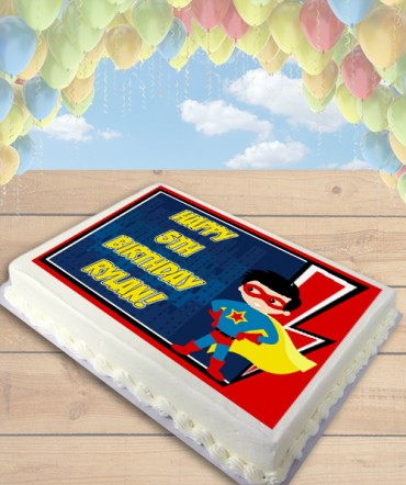 Superboy Clipart Edible Frosting Image Cake Topper [SHEET]