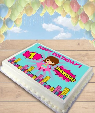 Supergirl Clipart Edible Frosting Image Cake Topper [SHEET]