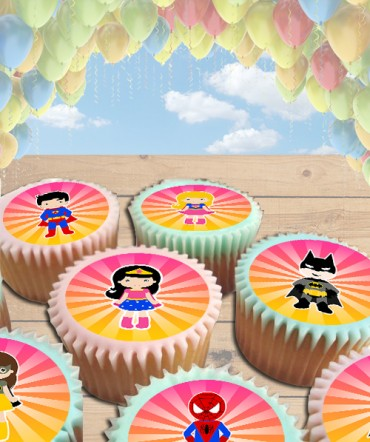 Superheroes Clipart Edible Frosting Image Cake Topper [CUPCAKES]