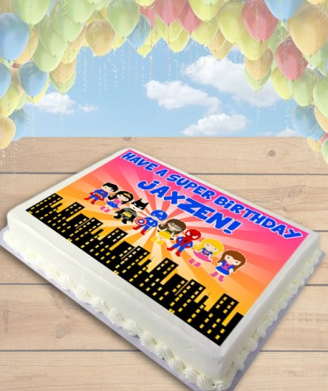 Superheroes Clipart Edible Frosting Image Cake Topper [SHEET]