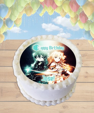 Sword Art Online Edible Frosting Image Cake Topper [ROUND]