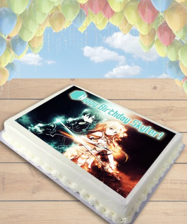 Sword Art Online Edible Frosting Image Cake Topper [SHEET]