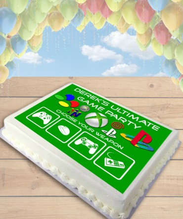 Video Game Console Edible Frosting Image Cake Topper [SHEET]