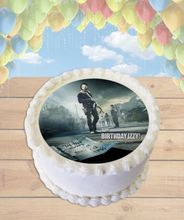The Walking Dead Edible Frosting Image Cake Topper [ROUND]