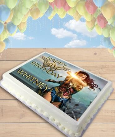 Wonder Woman 2017 Movie Edible Frosting Image Cake Topper [SHEET]