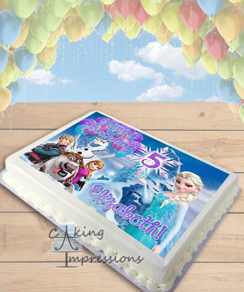 Ice Cream Cake Edible Image : Frozen Elsa Ice Castle Edible Image Sheet Cake Topper