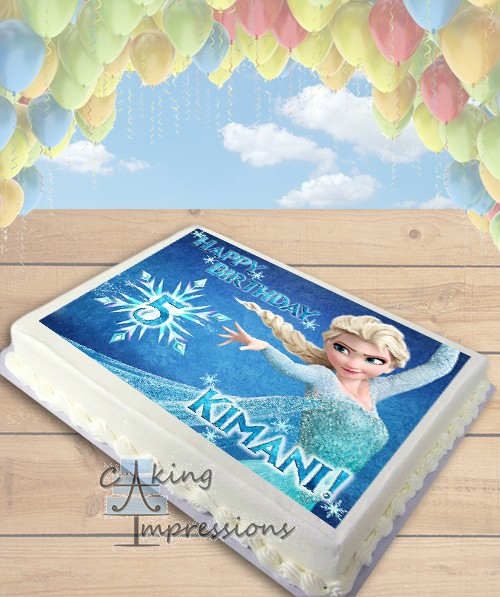 Edible Cake Images Elsa : Frozen Elsa Edible Image Sheet Cake Topper