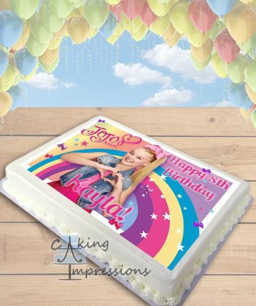 Jojo Siwa Bows Edible Image Sheet Cake Topper