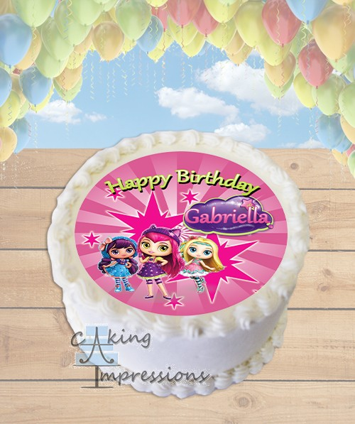 Little Charmers Edible Image Round Cake Topper