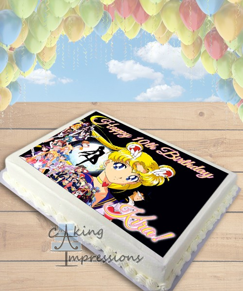 Sailor Moon Edible Cake Photo