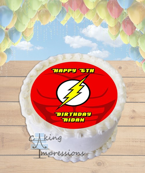 Inch Round Superhero Edible Cake Images