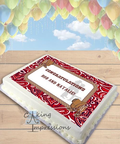 Graduation Sheet Cakes Western Cowboy Cowgirl...